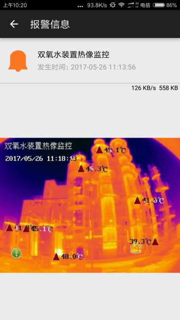 双氧水反应釜状态监测FOTRIC智能防火报警系统